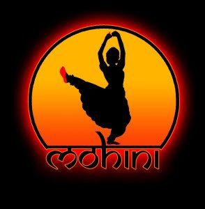 Logo Mohini słonko na czarnym
