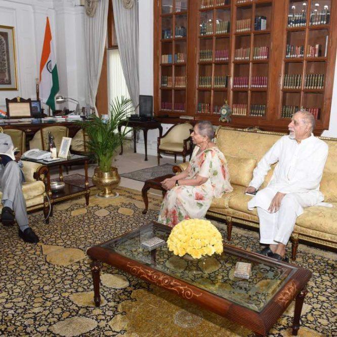 Sahaja Yoga z wizytą u Prezydenta Indii Ram Nath Kovinda